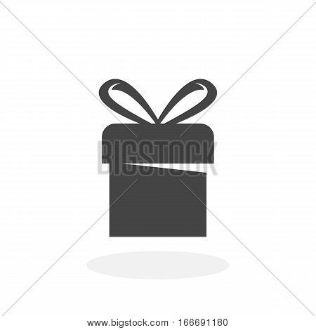 Gift icon isolated on white background. Gift vector logo. Flat design style. Modern vector pictogram for web graphics - stock vector