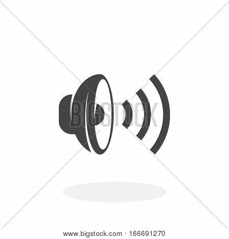 Speaker icon isolated on white background. Speaker vector logo. Flat design style. Modern vector pictogram for web graphics - stock vector