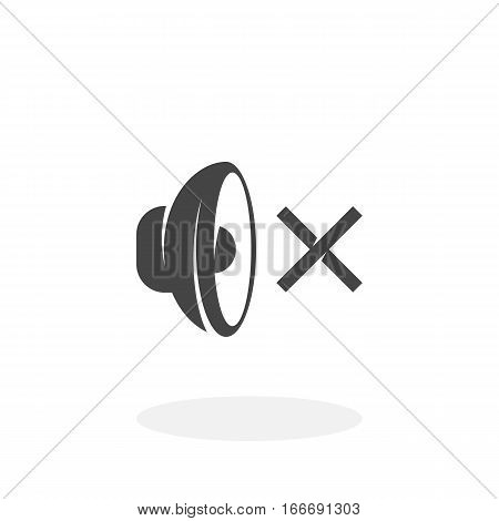 Speaker off icon isolated on white background. Speaker off vector logo. Flat design style. Modern vector pictogram for web graphics - stock vector