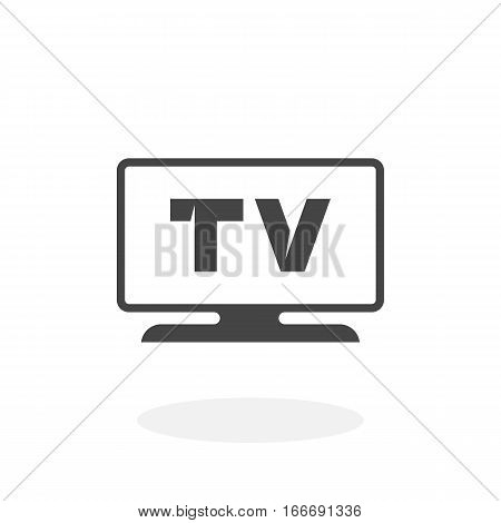 TV icon isolated on white background. TV vector logo. Flat design style. Modern vector pictogram for web graphics - stock vector