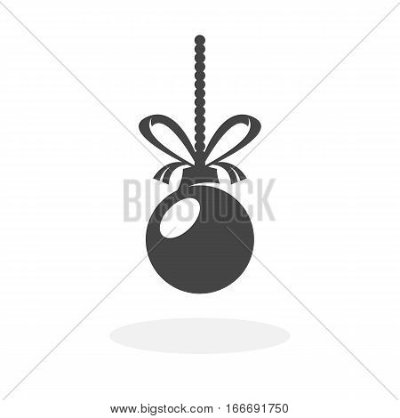 Christmas ball icon isolated on white background. Christmas ball vector logo. Flat design style. Modern vector pictogram for web graphics - stock vector