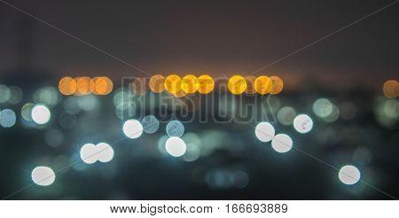 bokeh light in my city scape look wonder
