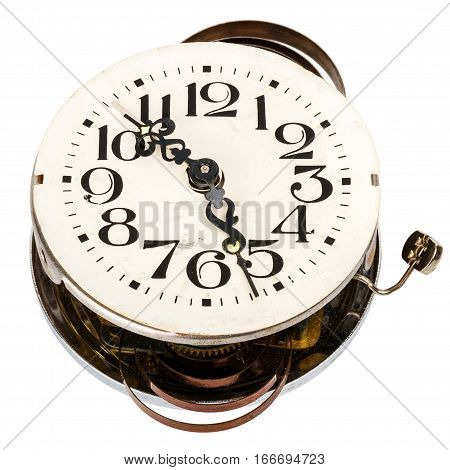 Old clockwork isolated on a white background
