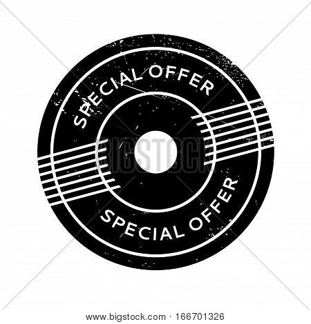 Special Offer rubber stamp. Grunge design with dust scratches. Effects can be easily removed for a clean, crisp look. Color is easily changed.