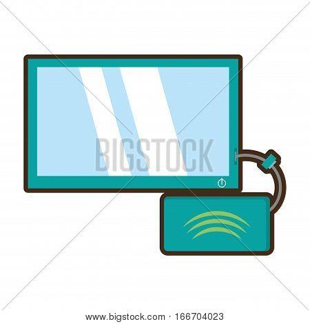 cartoon tv modem signal internet vector illustration eps 10