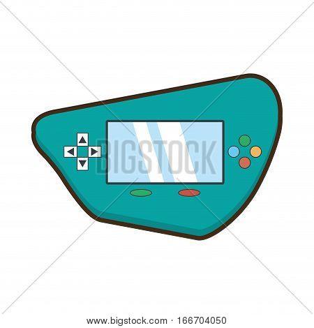 cartoon green video gamepad portable technology vector illustration eps 10