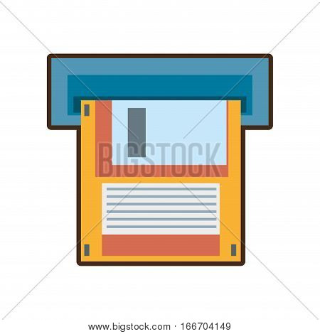cartoon floppy diskette storage computer vector illustration eps 10