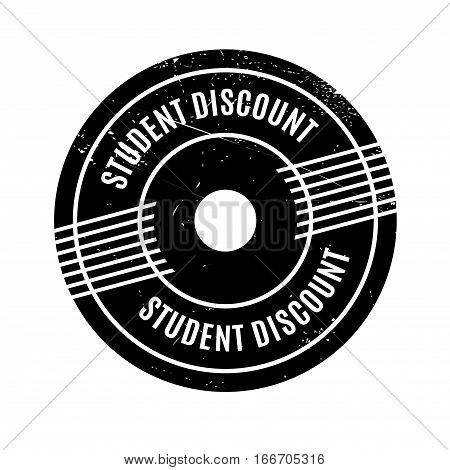 Student Discount rubber stamp. Grunge design with dust scratches. Effects can be easily removed for a clean, crisp look. Color is easily changed.