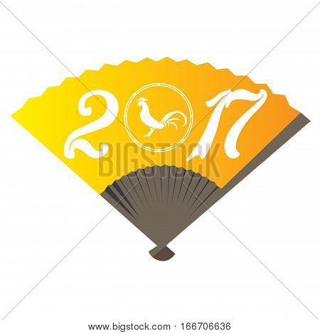 Isolated hand fan with text, Chinese new year vector illustration