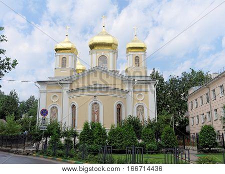 Nizhny Novgorod, Russia. - July 14.2016. Church Holy Hierarchs Of The Moscow Nizhny Novgorod Metochi