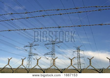 Power Towers And Barbed Wire