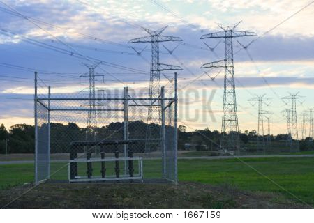 Powerlines And Methane Extraction