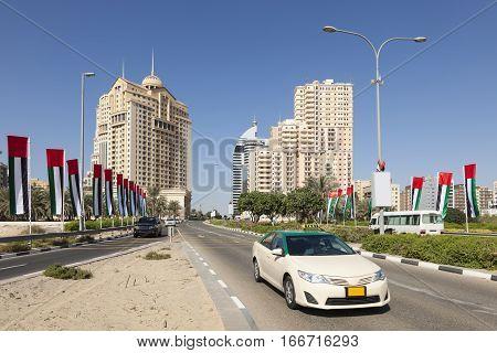 Main road to the Dubai Academic City. United Arab Emirates Middle East