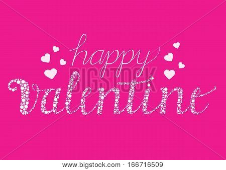 Happy Valentine card with decorative brush script letters
