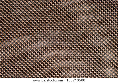 Orange fishnet cloth material as a texture background. Nylon texture pattern or nylon background for design with copy space for text or image.