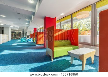 Library Lounge Area With Sofas