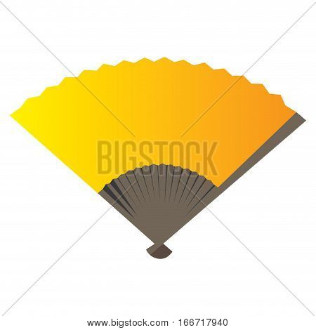 Isolated traditional hand fan on a white background, Vector illustration