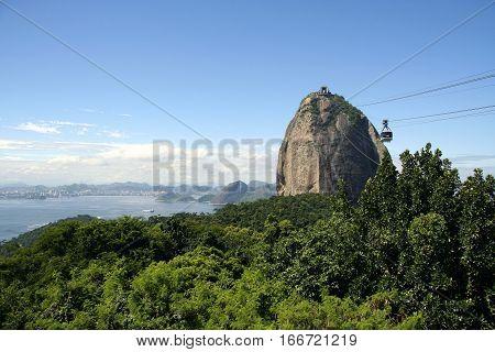 View on Sugar Loaf Mountain in Rio de Janeiro, Brazil.