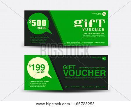 green gift voucher vector photo free trial bigstock