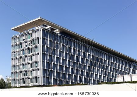 Geneva, Switzerland - August 14, 2016: The World Health Organization building also called WHO is a specialized agency of the United Nations that is concerned with international public health