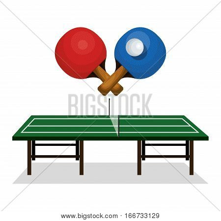 ping pong sport emblem icon vector illustration design