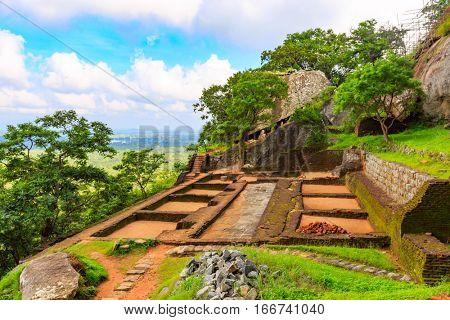 ruin of Sigiriya Lion Castle, Srilanka