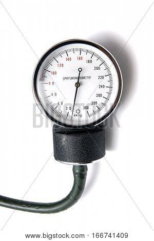 Sphygmomanometer isolated on white