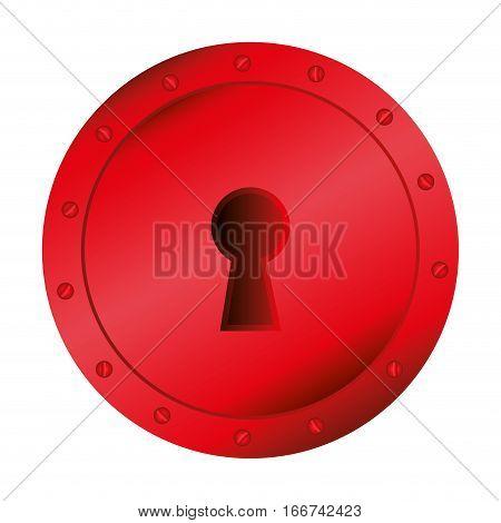 key hole red romantic icon vector illustration design