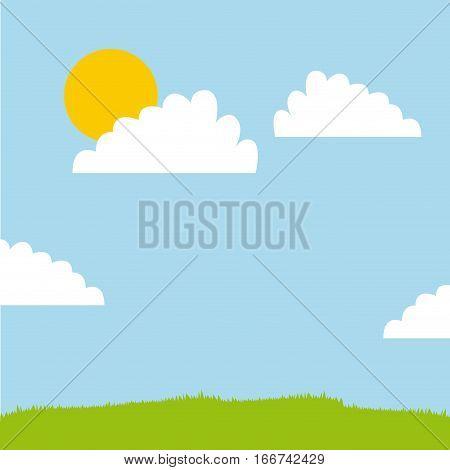 landscape background design, colorful design vector illustration