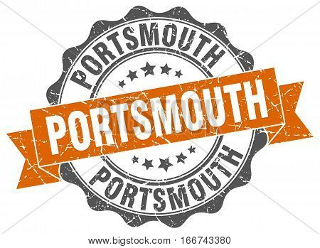 Portsmouth. round isolated grunge vintage retro stamp