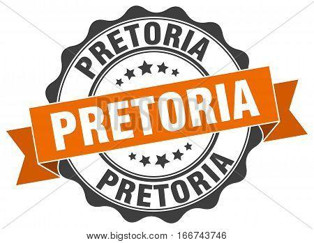 Pretoria. round isolated grunge vintage retro stamp
