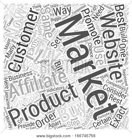 How To Set Yourself Apart From Other Affiliates Word Cloud Concept