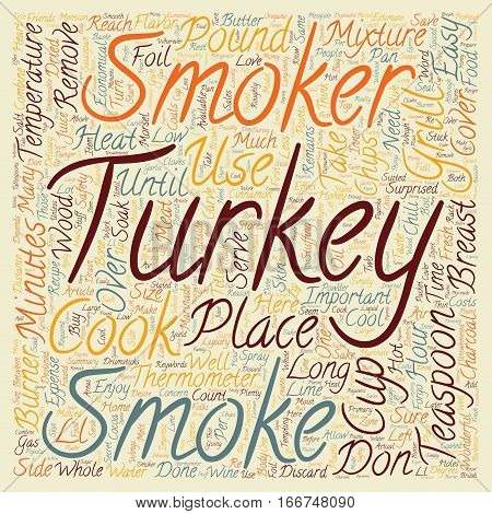 How to smoke a turkey text background wordcloud concept