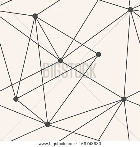 Vector Seamless Triangles Geometric Pattern