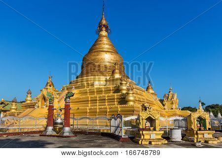 Khutodaw Pagoda at Mandalay city in Myanmar