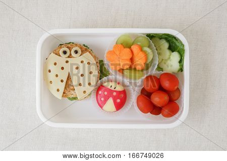 Ladybug Ladybird Healthy Lunch Box, Fun Food Art For Kids