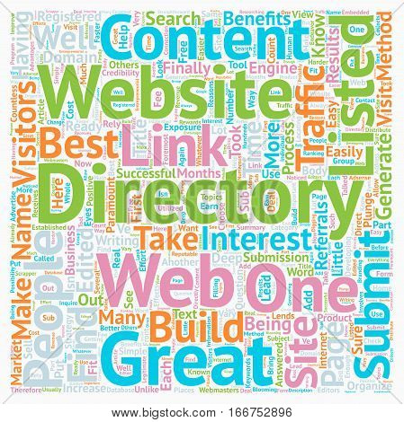 How To Submit To Web Directories text background wordcloud concept