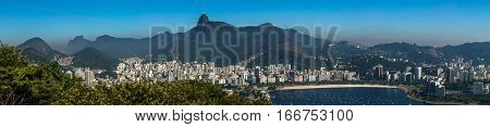 Panoramaic view from Sugarloaf Mountain Rio Brazil