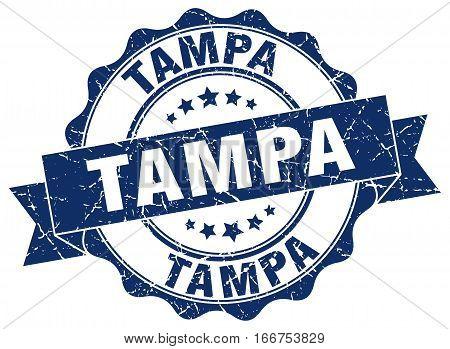 Tampa. round isolated grunge vintage retro stamp