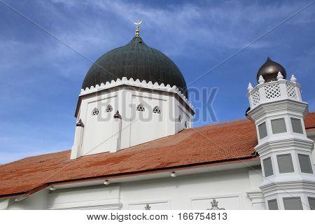 landmark mosque in Penang, Masjid Kepitan Kling, in George Town of Malaysia