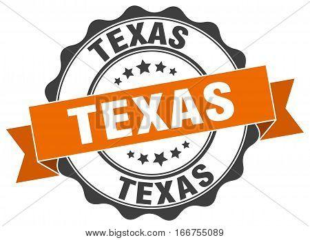 Texas. round isolated grunge vintage retro stamp