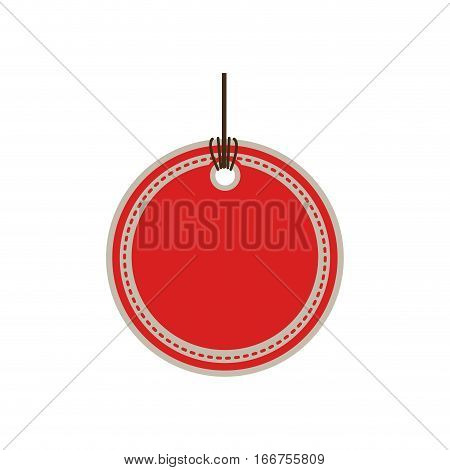 color price tag with round shape vector illustration