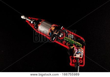 Disassembled Drill