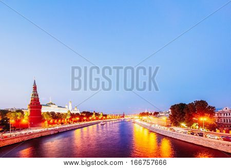 Evening Urban Landscape Of Moscow