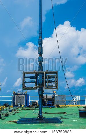 Offshore oil and gas industry Safety equipment for cutting tubing and plug while gas blow out called shear ramp perforation oil and gas well activity.