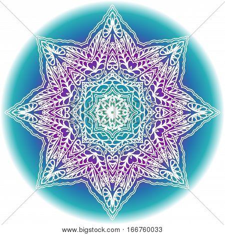 Mandala lace decorative ornament. Ethnic islam arabic indian ottoman motif