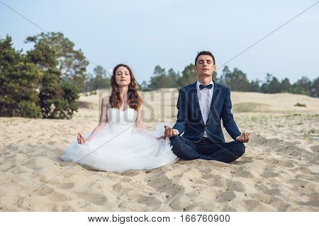 Couple On The Beach. Olkhon Island