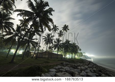 Beautiful Night View Of The Coastline