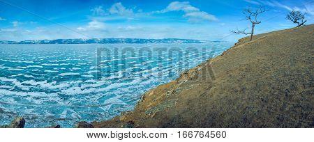 Ice And Rocks Of Lake Baikal