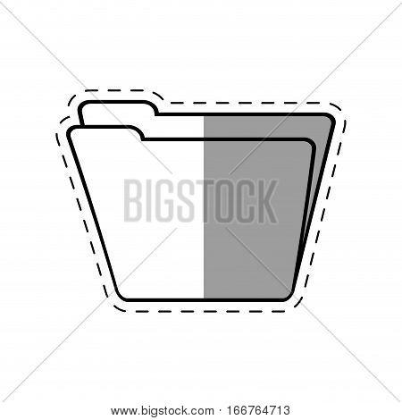 folder file document line shadow vector illustration eps 10